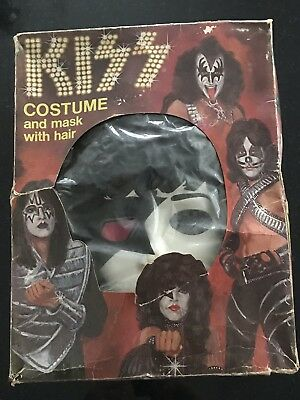Kiss 1978 Aucoin Paul Stanley Rare Halloween Mask With Outfit Complete    In Box