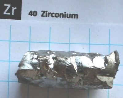 53.53 gram 1.88 Oz Zirconium metal bar #27 99.81% pure element 40 sample