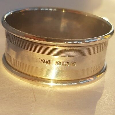 Antique Solid Silver Napkin Ring.