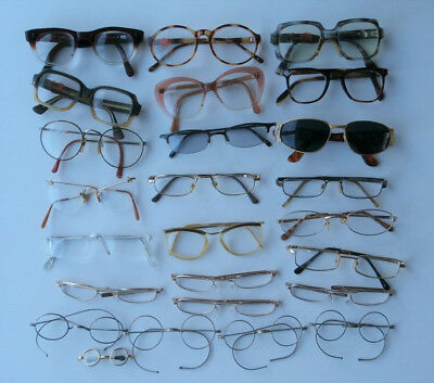 Job Lot of Old Spectacles. Vintage, Wire Rims, Folding etc.