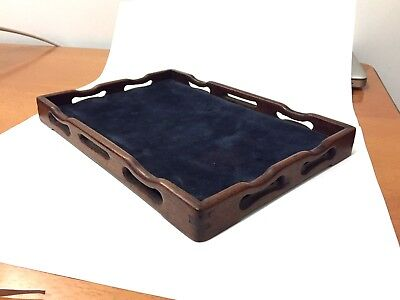 Antique Chinese Carved Huanghuali Hardwood Scholars Incense Tool tea Tray 19th C