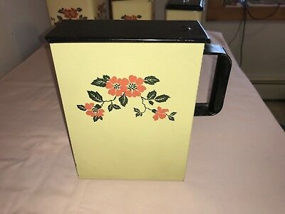 Hall China Red Poppy Tin Metal Soap Dispenser Laundry Powder Vintage Nice Shape