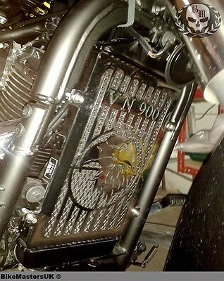 Kawasaki Vn 900 Vn900 Vulcan Stainless Steel Radiator Cover Grill Guard - Eagle