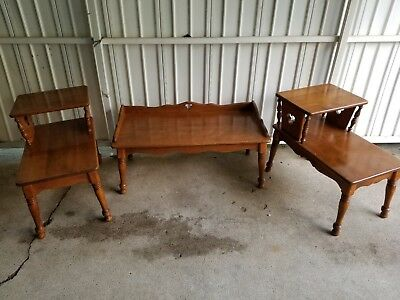 Set Of BAUMRITTER Clover Design Coffee Table & End Tables / Side Tables
