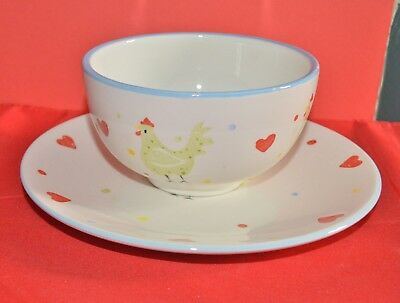 Price Kensington Bowl And Plate With Hen And Heart Design