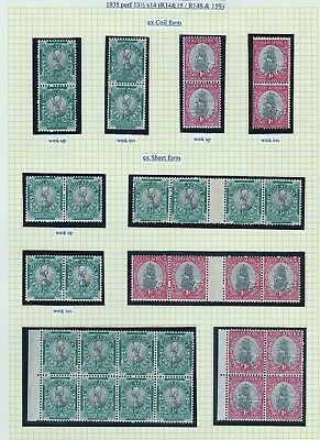 1935 coils stamps, perf 13½x14, fine specialised lot, lm or um, cat £670+