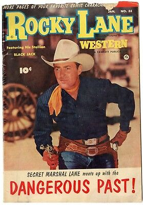 Rocky Lane Western #55 VG 4.0 off-white pages  Photo Cover  Fawcett  1954