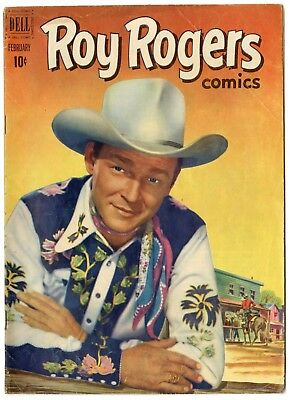 Roy Rogers #50 VG/FN 5.0 ow/white pages  Photo Cover  Dell  1952  No Reserve