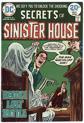 Secrets of Sinister House #17 VF/NM 9.0 white pages  DC  1974  No Reserve