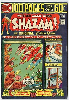 Shazam! #14 VF/NM 9.0 white pages  Captain Marvel  100 Page Giant  DC  1974