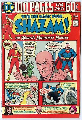 Shazam! #15 VF/NM 9.0 ow/white pages  Captain Marvel  100 Page Giant  DC  1974