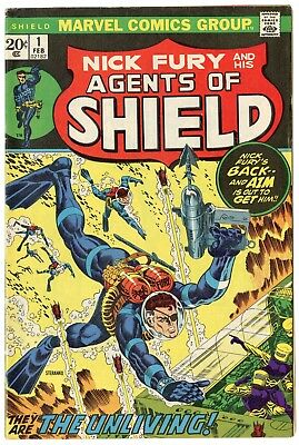 SHIELD #1 VF+ 8.5 off-white pages  Marvel  1973  No Reserve