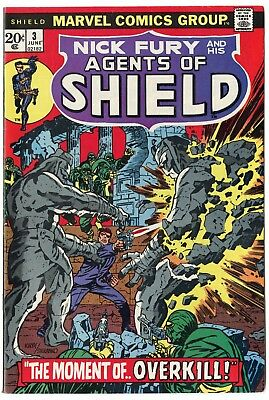 SHIELD #3 NM- 9.2 white pages  Marvel  1973  No Reserve