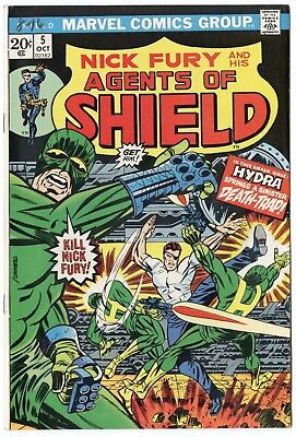 SHIELD #5 VF/NM 9.0 ow/white pages  Marvel  1973  No Reserve