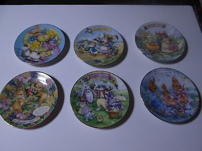 Avon Easter Collector Plates Set of 6 with Stands 1991,1992,1993,1994,1995,1996