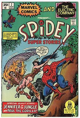 Spidey Super Stories #2 NM- 9.2 ow/white pages  Marvel  1974  No Reserve