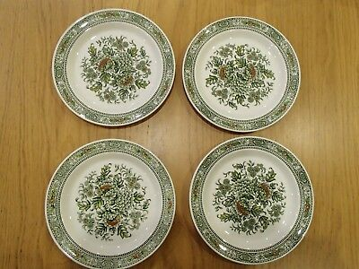 Ridgway Canterbury green side tea plates X4  Vintage ironstone