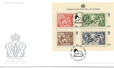GB - FIRST DAY COVER - FDC - MINI SHEET - 2010 - Festival Stamps- U/A Pmk London