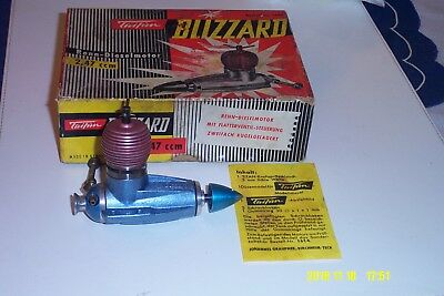 RARE TAIFUN BLIZZARD 2.5cc U/C, F/F DIESEL MOTOR IN GOOD CONDITION IN BOX