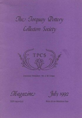 Torquay Pottery Collector's Society Magazine Booklet July 1992 - Tpcs.