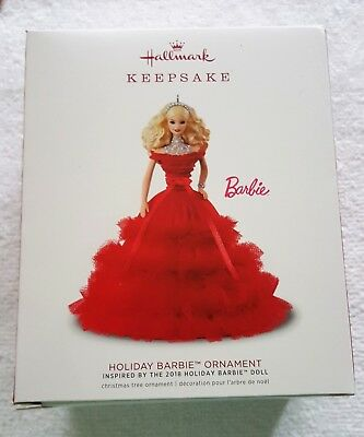 2018 Hallmark Holiday Barbie Ornament