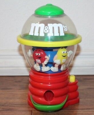 """Collectible M&M Spinning Fun Machine Candy Dispenser 9"""" Tall Vintage"""