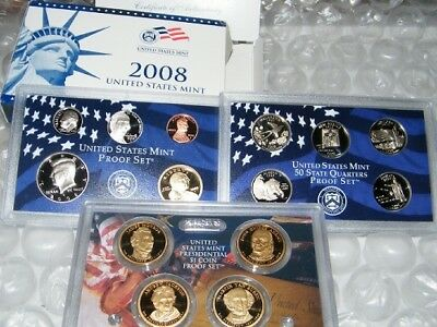 2008 United States Uncirculated Mint Proof Set W/COA in Original Packaging