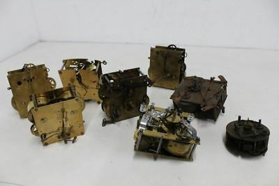 JOB LOT 8x Clock Parts Brass Metal Movement Smiths Junghans German French Spares