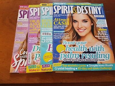 4 X Spirit and Destiny Magazines May to August bundle 2017