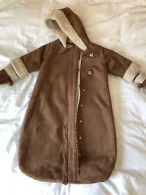 72654d974 BABY GAP FAUX Sheepskin Baby Boy Baby Girl Snow Suit Pram Suit 3-6 ...