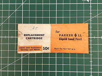 PARKER Liquid Lead Replacement Cartridge - Mod 21 & 51 - 50s NOS - Extremly RARE