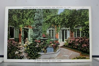 Louisiana LA New Orleans Little Theater Courtyard Postcard Old Vintage Card View