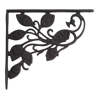 Signature Hardware Majestic Peacock Cast Iron Shelf Bracket