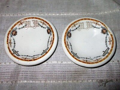 2 Butter Pat Dishes From The Historic Mayview Manor, Blowing Rock, NC