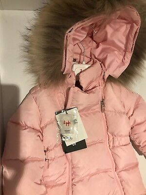 fbca00858 IL GUFO BNWT Baby Girls Padded Snowsuit   Pramsuit with Fur - size 6 ...