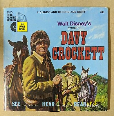 Walt Disney's Story of Davy Crockett   record and book *Free Shipping*