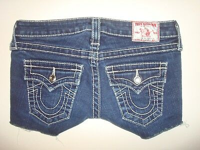 Women's True Religion Brand Jean Shorts with Bling Design, Size 25