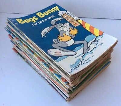 VTG Mixed Lot of 40 DELL Cartoon 10/15 Cent Comic Books WALT DISNEY Looney Tunes