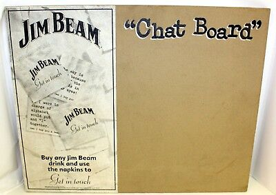 """Home Bar Collectible Jim Beam Chat Board Message Board 20x16"""""""