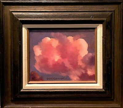 "Sunset Cloud Original small Oil Painting on canvas Master Cloud Artist 12""x 10"""