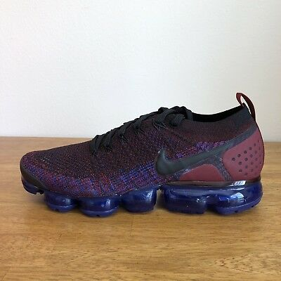 Nike Air VaporMax FLYKNIT 2 Black/Black Team Red 942842-006  Size 10.5