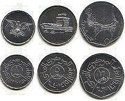 Yemen Republic 3 Coin Set Bridge Building Uncirculated