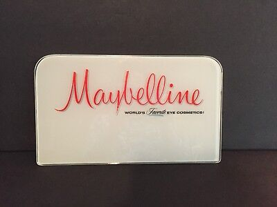 Vintage Maybelline Cosmetics glass sign