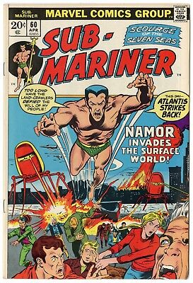 Sub-Mariner #60 VF/NM 9.0 white pages  Marvel  1973  No Reserve