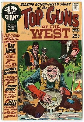Super DC Giant #S-22 VF+ 8.5 white pages  Top Guns of the West  DC  1971