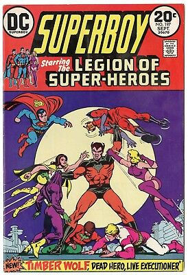 Superboy #197 VF+ 8.5 ow/white pages  Legion Series begins  DC  1973  No Reserve