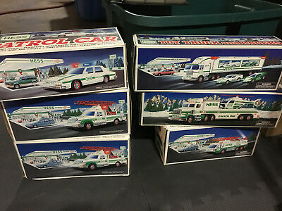 Hess Toy Trucks (Lot of 6) 1993, 2-1994, 1995,1996 and 1997