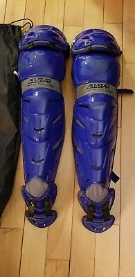 All-star System 7 Pro Adult Leg Guards 16.5 inch,color royal blue