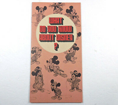 Disney Studios Brochure Animation Department Recruitment 12 pages 1972