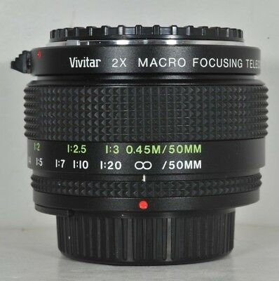 Vivitar 2x Macro Focusing Teleconverter for Nikon F Ai Mount